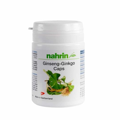 Kапсулы гинкго женьшень с витамином в1, в2 и в3.