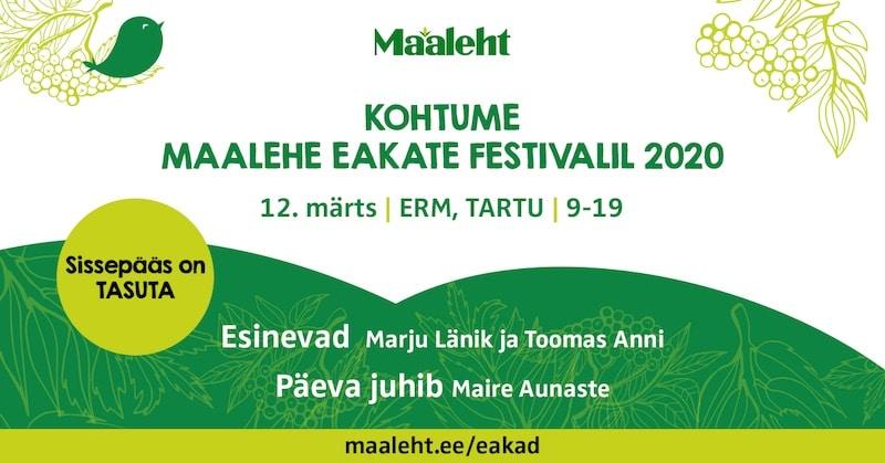 Maalehe Eakate Festival 2020