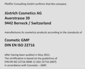 Meie kosmeetikatoodetele on väljastatud GMP sertifikaat